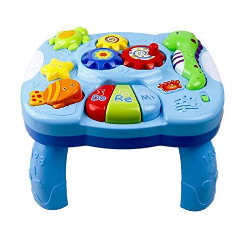 gaeruite Musikalische Lerntisch Baby Spielzeug, Abenteuer Spieltisch, Musik Aktivitätszentrum Spieltisch Spielzeug für Früherziehung Über 18 Monate Baby Lernen, Multi-Colored