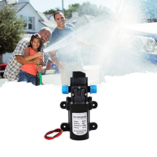Candyboom DC 12V / 24V 60W Wasserpumpe Hochdruckwaschspray Automatischer Schalter Selbstansaugender Wohnwagen Campingboot Zubehör