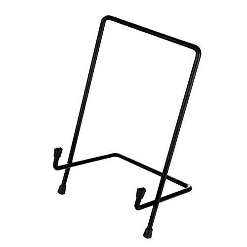 TOPBATHY 13 * 25cm Multi-usages Métal Carré Affichage Afficher Stand Titulaire Support Base pour Rack Cadre Photo Artisanat Livre Certificat Médaille Tablet Home Decor Stand XL Taille (Noir)