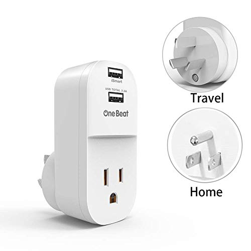 Au, Argentina,Fiji, NZ, China travel plug adapter, Type I plug with outlet 2 USB ports fast charging when travelling. US to Australia, New Zealand power adapter, Extra USA plug for travel or home
