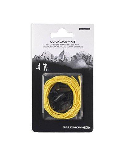 Salomon Quicklace Kit, Set di Lacci, Giallo, L32667500