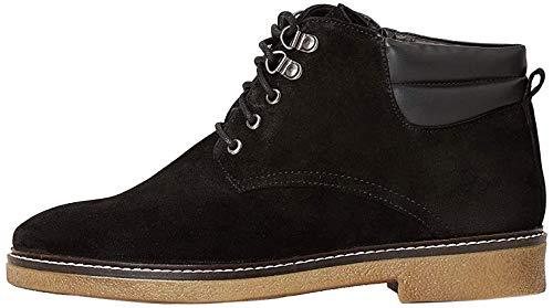 find. Lace Up Leather Gumsole Botines, Negro Black, 36 EU