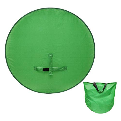 Chnrong Silla portátil de fondo de pantalla verde, kit de llave de croma plegable con estuche de almacenamiento, telón de fondo de pantalla verde para cámara web video, video, conferencias webinars
