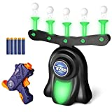 SNAEN Shooting Target Game for Kids, Indoor Glow in The Dark Floating Target Shooting Game Toys, Includes Shooting Tool,10 Foam Dart and 10 Floating Ball Targets for Boys Kids Family