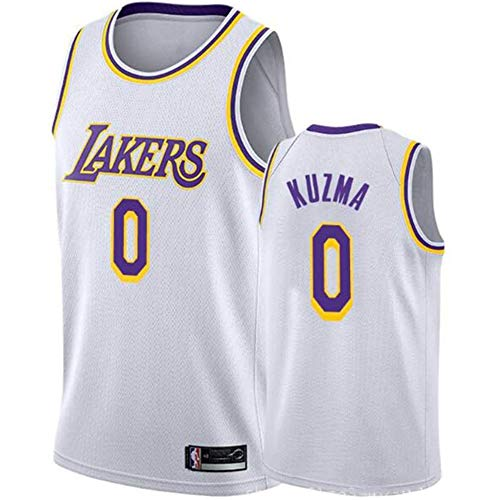 QAZWSX Los Angeles Lakers 0 Kyle Kuzma - Uniforme de baloncesto para adultos y niños blanco XS