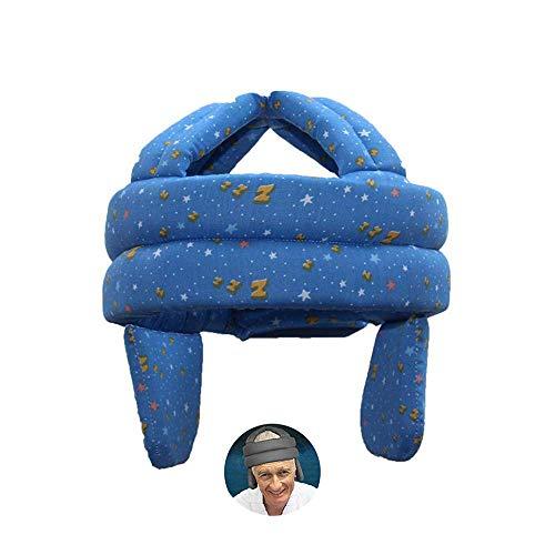 ASEOK Anti-Fall-Kopfschutzhelm, älterer Hut Gesundheitsschutz Atmungsaktive Anti-Shock-Kappe Anti-Fall-Kopf-Schwammsicherheit, verstellbarer Kopfschutz-Hut mit Klettverschluss, Anti-Collision-Cap