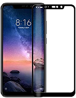 واقي شاشة شاومي ريدمي نوت 6 برو 5D (تغطية شاشة كاملة) - اسود