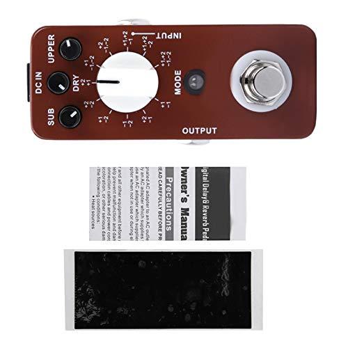 Efecto de guitarra eléctrica, Efecto de octava, Mini DC 9V/128mA Full Metal Shell Mini Octave Pedal de efecto de guitarra 11 modos de octava True Bypass para guitarra eléctrica