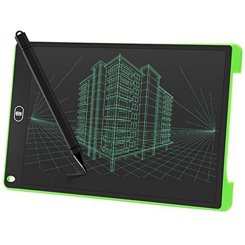 Whiteboard Elektronisch/Bord verwijdert met één klik, LCD-krijtbord met kleine energie, kleur graffiti, kindermemogroen (12 inch)