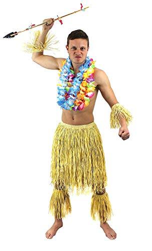I LOVE FANCY DRESS LTD Disfraz DE Zulu para Hombres Conjunto TEMATICO HAVAIANO DE 5 Piezas (ESTANDAR)