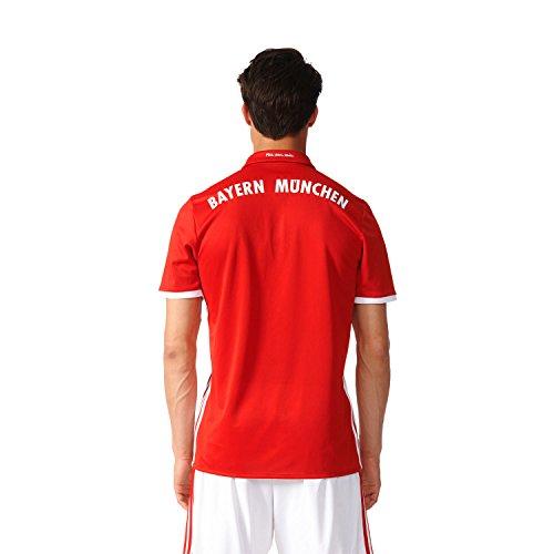 Adidas Men's FCB Bayern Munich Home Jersey - True Red/White, Medium