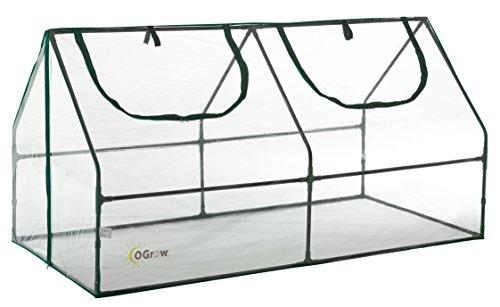 Ogrow Mini Serre Extérieur pour Semis de Jardin - Petite Serre Transparente  de Germination en PVC - 180 cm x 91.5 cm x 91.5 cm