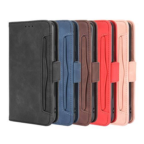 Aokicase - Funda para Nokia C1 Plus (piel sintética, tipo cartera, para Nokia C1 Plus 2021), color negro