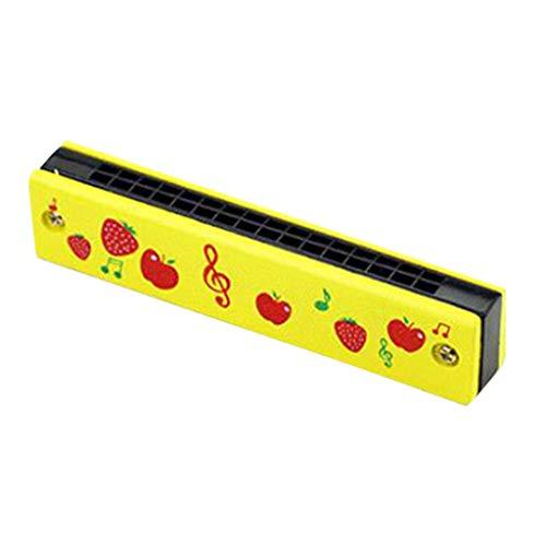 Sheuiossry Armónica de madera de doble fila de 16 agujeros para estudiantes principiantes, niños, colorido y gran sonido