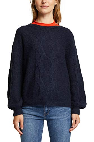 Esprit 100EE1I312 Suéter, 400/azul Marino, XS para Mujer