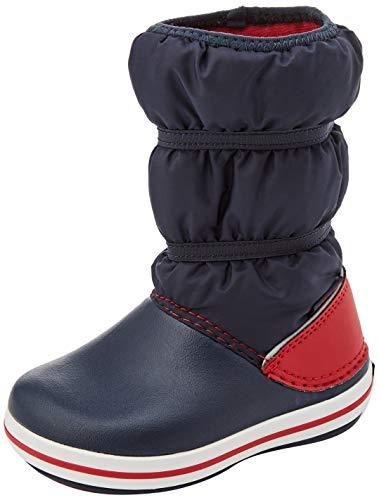 Crocs Crocband Winter Boot Kids, Botas de Nieve, Azul Marino/Rojo, 24/25 EU
