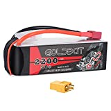 GOLDBAT 14.8V 2200mAh 50C 4S LiPo Battery with Deans Plug and XT60 Connector for RC Evader BX Car RC Truck RC Truggy RC Heli Airplane UAV Drone FPV Racing