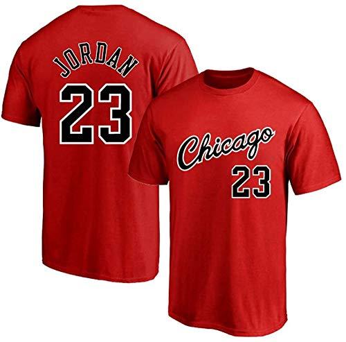 MMQQL Hombres Camiseta de Baloncesto Jersey, NBA Bulls # 23 Jordan Retro Ronda Cuello jeysey, Fitness Sports Superior Respirable,Rojo,XXL