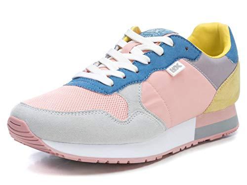 XTI 49820.0, Zapatillas Mujer, Rosa (Rosa/Gris Rosa/Gris), 41 EU