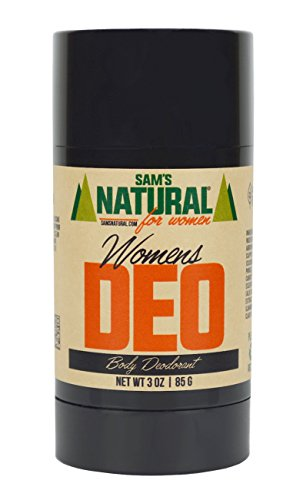 Sam's Natural Deodorant - Aluminum Free - No phthalates, parabens, sulfates, or dyes - Made in New Hampshire - Women, Unisex - Vegan, Cruelty Free - 3 oz - Women's