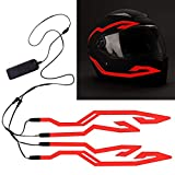 4PCS Motorcycle Helmet Light, Night Riding Signal Helmet EL Light, 3 Mode Led Helmet Light Strip Decoration Accessories Kit for Motorcycle, Bike...