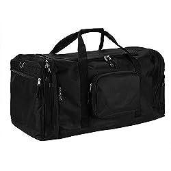 monzana Sporttasche Reisetasche Tasche   70 cm   95 Liter Volumen   Schultergurt abnehmbar und verstellbar   schwarz - Reisekoffer Koffer