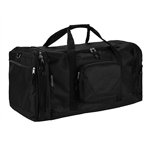 Monzana Gym Duffel Bag Holdall Black 90L Colour Choice Sports w/Shoes Compartment Weekender Overnight Club Team Lightweight Foldable