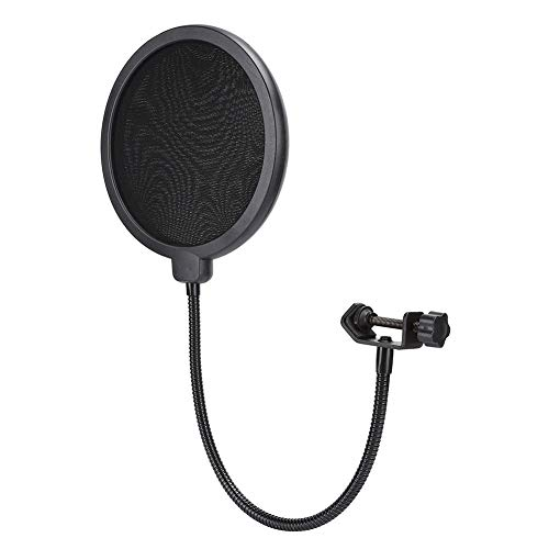 Bewinner1 Microphone Anti-Spray Cover,Large Size Double Layer Microphone Windshield, Recording Microphone Windproof Cover for Broadcast Recording Voice Recording