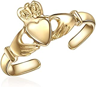 10K Yellow Gold Toe Ring – Ladies Claddagh Ring