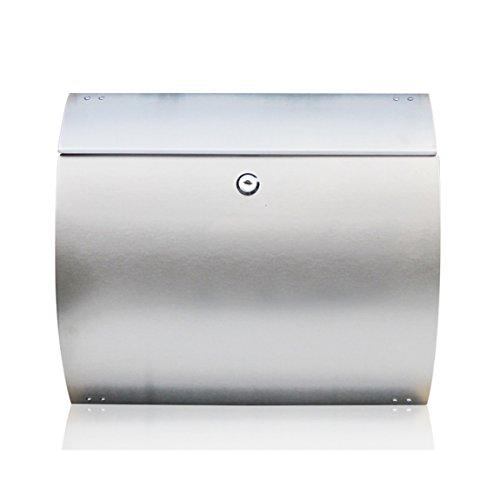 QAR, roestvrijstalen brievenbus voor buiten, Europese Villa brievenbus voor aan de muur, 37 x 32,5 x 10,5 cm