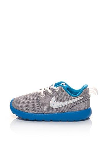 Nike Unisex-Kinder Roshe One (Ps/Td) Krabbelschuhe, silberfarben/blau, 23.5 EU