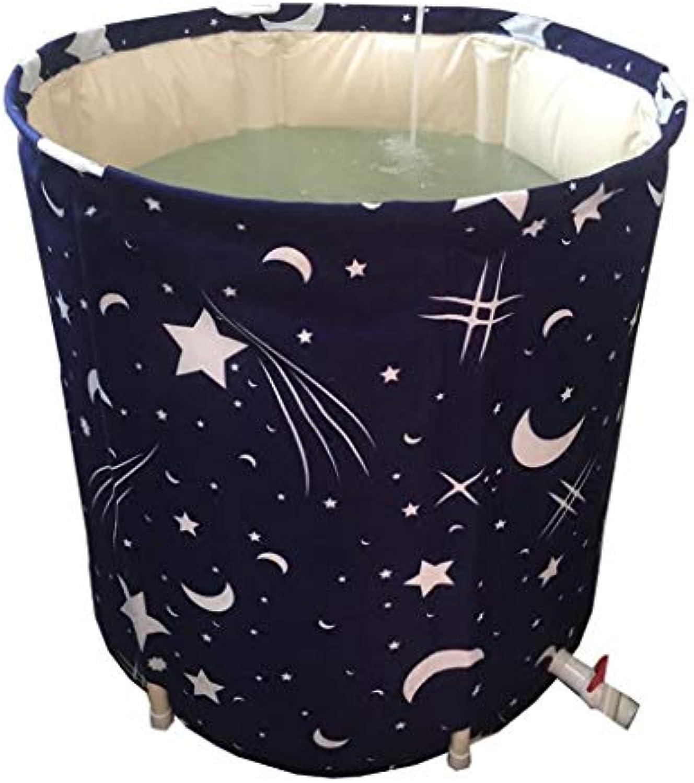 Faltbare Badewanne, Badewanne, Faltbare Tragbare, Kunststoff, Spa, Massage, 2 Gren GAOFENG (Farbe   Blau, Größe   70  65 cm)