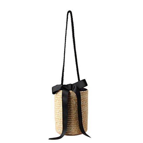 Naviga té Nueva Ankunfts de cubo de bombilla nette paja de bolsa de bolsa de funda strickte clásico de flores de playa bolsa de almacenamiento para bolsas de paja Totes tipo de y Weis egew EBTE Bandolera