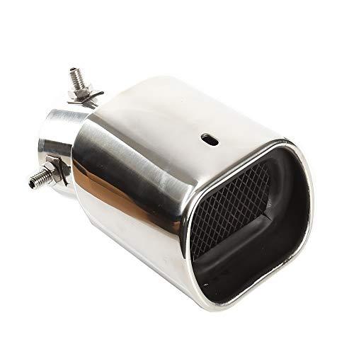 Auspuffspitzen Schalldämpfer Edelstahl Auto Auspuff Endrohr Quadrat Mund Verdickung Biegung, Einlass 63mm (2,5
