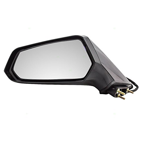 Aftermarket Replacement Drivers Power Side View Mirror Ready-to-Paint Compatible with 10-15 Camaro 22762487