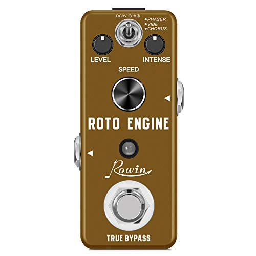 Rowin ROTO ENGINE Rotary Speaker Simulator Effect Pedal Mini Digital Guitar Effects Pedal Phaser/Vibe/Chorus 3 models with Storage of Timbre Sound Pedal True Bypass Full Metal Shell LEF-3801