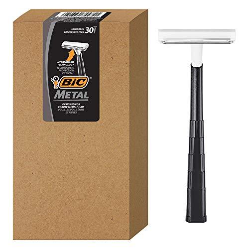 BIC Bic metal men's disposable shaving razors, single blade, 30 count (6...