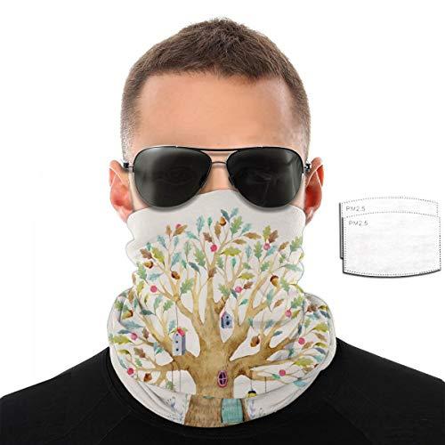 Hermosa toalla de cara para bebé con diseño de casa del árbol para hombres y mujeres, resistente al viento, transpirable, variedad de deportes al aire libre, color Con 2 filtros., tamaño talla única