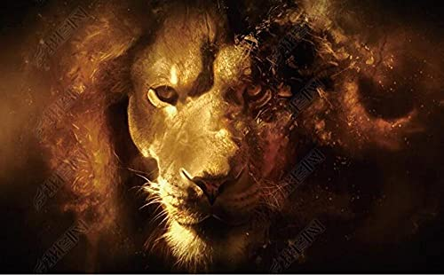 Wallpaper 3D Wallpapers Walls Mural Abstract Lion Animal Wall Murals for Bedrooms Living Room Tv Background Wall Mural Decoration Art 200x140cm