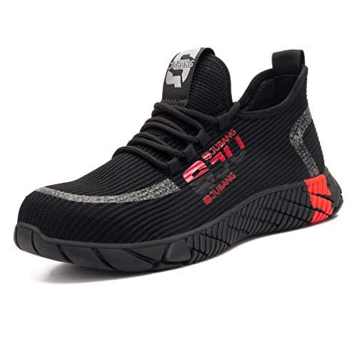 Zapatos de trabajo S3 para hombre y mujer, deportivos, transpirables, ligeros, antideslizantes, puntera de acero