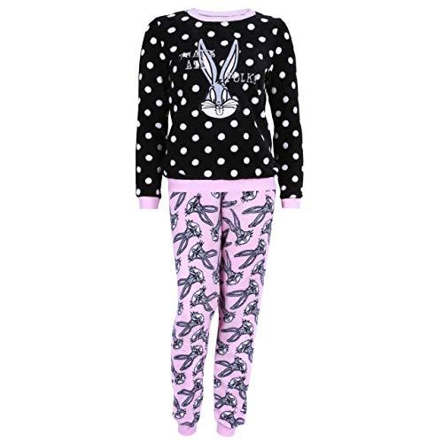 Looney Tunes Rosa-schwarzes Bugs Bunny Pyjama - S