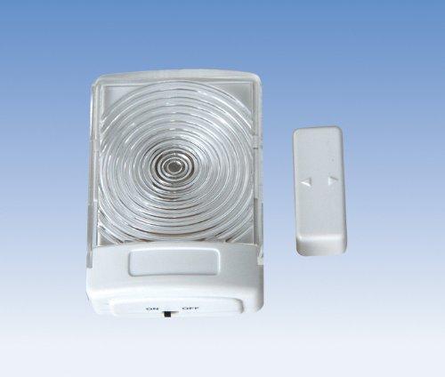 Preisvergleich Produktbild Heitronic Taschenlampe Tür / Schubladen Magnet LED,  Transparent / Weiß,  Kunststoff,  49505