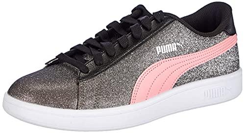 PUMA Smash v2 Glitz Glam Jr, Scarpe da Corsa, Rosa/Nero, 36 EU