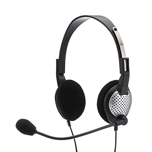 USB Headset with Noise Cancelling boom Microphone for Dragon NaturallySpeaking Software