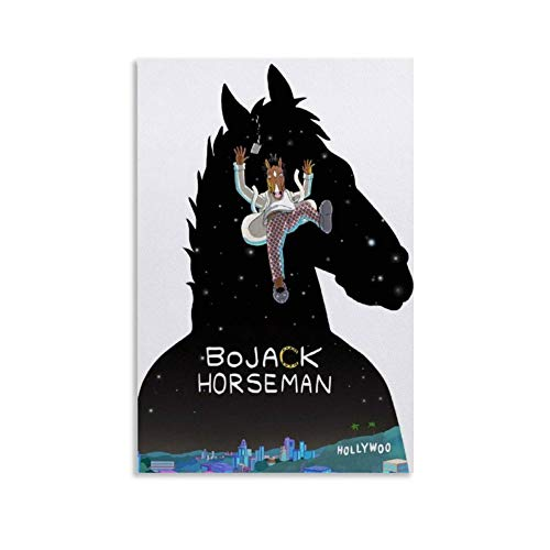 XUYAN BoJack Horseman TV Dramma Wall Art Poster Stampa su Tela Dipinto Opere Arte Moderna Arredamento Interessante Poster Estetico Incorniciato 30x45cm