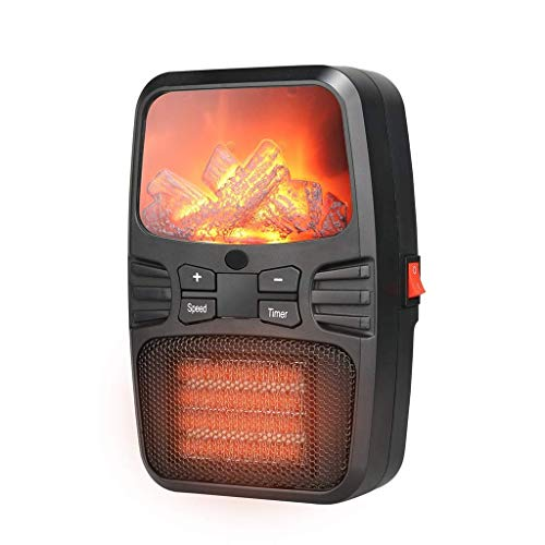miwaimao Heater Fan Flame Heater Small Air Conditioner Portable Heater Mini Multifunctional Heater with Oscillating Function Protection Against Overheating Tipping Suitable for Home And Offic.