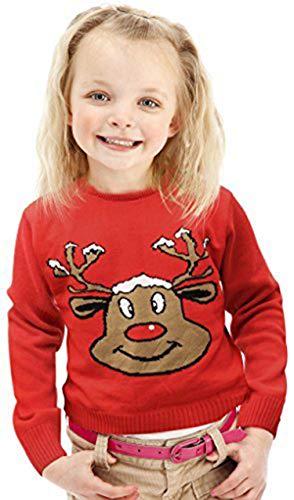 Jersey Navidad - Reno Sonriente Rojo -...