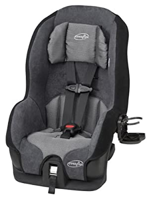 Tribute 5 Convertible Car Seat, 2-in-1, Saturn Gray from Evenflo