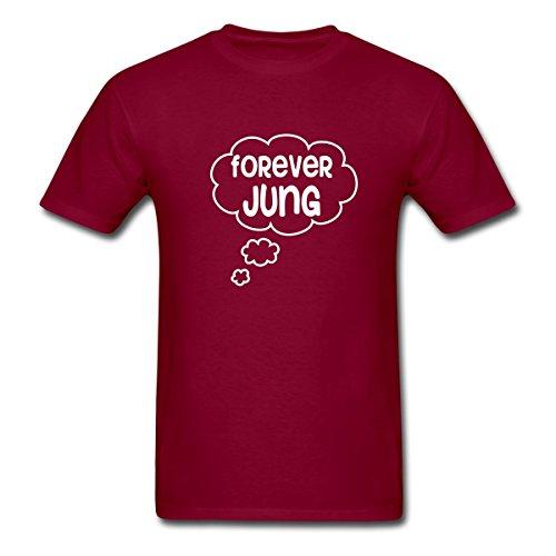 Spreadshirt Psychology Forever Jung Men's T-Shirt, 2XL, burgundy