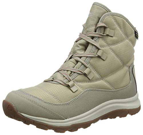 KEEN Women's Terradora 2 Ankle Boot Wp Snow, Plaza Taupe/Redwood, 9